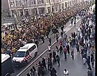 Foto: VIDEO: 'Griekse invasie' van AEK Athene-fans in Amsterdam