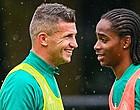 Foto: Opstellingen Feyenoord en Sparta: Linssen en Diemers op de bank