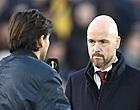 """Foto: Ten Hag ziet Ajax falen: """"Het was de vorm van de dag"""""""