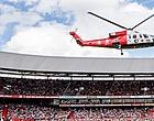 Foto: Feyenoord-fans denken: 'Oude bekende komt als verrassing uit helikopter'