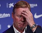 """Foto: Barça-fans halen hard uit naar Koeman: """"F*ck off, Ronald!"""""""