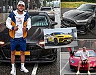 Foto: Engelse media vallen nu al over brute auto-collectie Hakim Ziyech