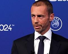 UEFA-preses Ceferin herhaalt: 'Nederland en België riskeren Europese tickets'