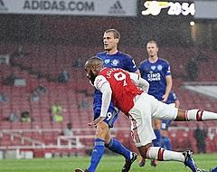 Arsenal niet langs Leicester na rood voor invaller