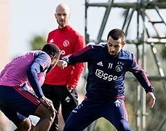 Amin Younes richt woord tot supporters van Ajax