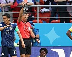 Japan profiteert van snelle rode kaart Colombia