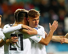Duitsers winnen ondanks snelle rode kaart simpel bij Estland