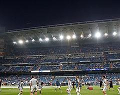 Real Madrid-supporters juichen hartstochtelijk voor Roma-speler Manolas