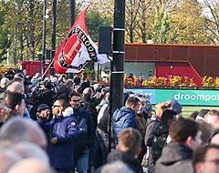 Feyenoord-fans zien Varkenoord tegen de vlakte gaan