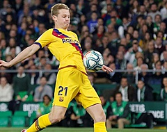 Frenkie de Jong op bank bij Barcelona tegen Eibar