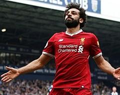 Salah zorgt voor recordregen op Anfield