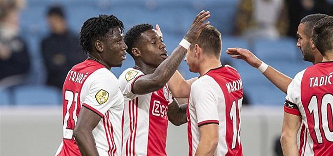 Foto: Jong Ajax zorgt voor unicum door zege op Dordrecht