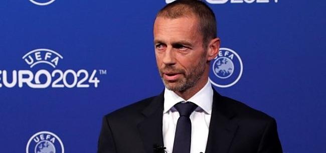 Foto: UEFA-preses Ceferin herhaalt: 'Nederland en België riskeren Europese tickets'