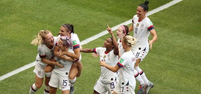 Foto: Sprookje Oranje Leeuwinnen ten einde: Amerika te sterk in WK-finale