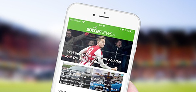 Foto: Download nu de GRATIS SoccerNews iPhone app!