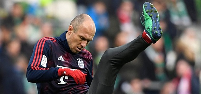 Foto: Geblesseerde Robben moet Bayern-training wederom laten schieten