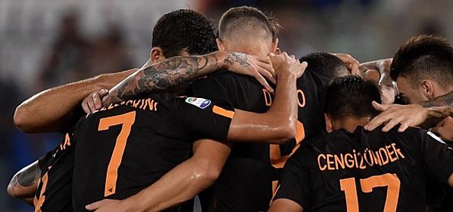 Foto: AS Roma wint zonder Nederlanders eenvoudig