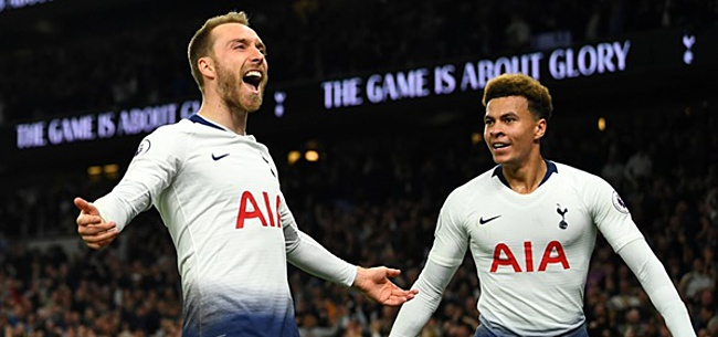 Foto: Eriksen schiet Tottenham Hotspur vlak voor tijd naar zege