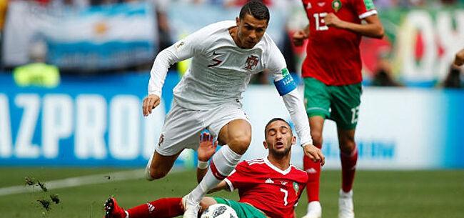 Foto: Cristiano Ronaldo dompelt Marokko in rouw met vroege goal