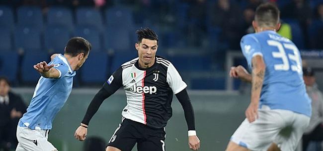 Foto: Juventus na rode kaart en misgreep De Ligt onderuit bij Lazio