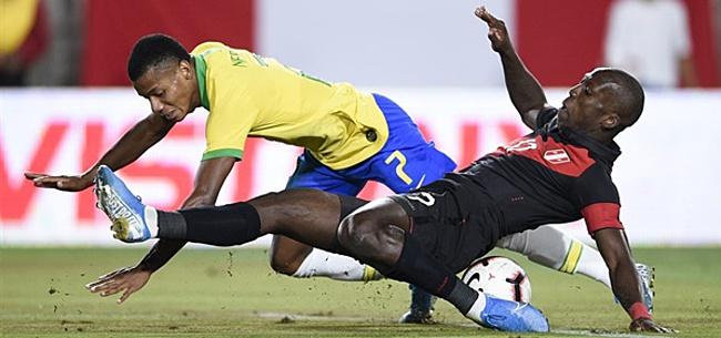 Foto: Brazilië verliest pijnlijk bij rentree David Neres