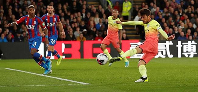 Foto: City wint gemakkelijk van Palace: goal David Silva hoogtepunt