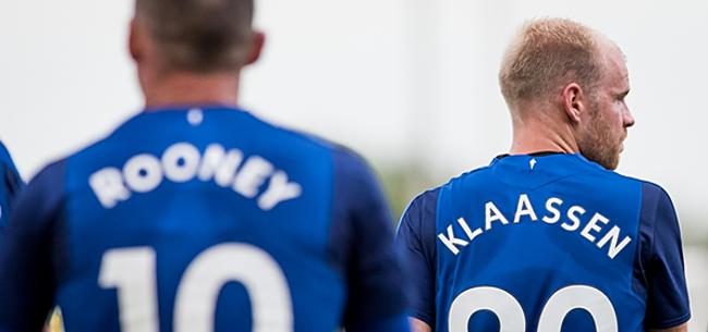 Foto: Everton-supporters keren zich tegen Davy Klaassen