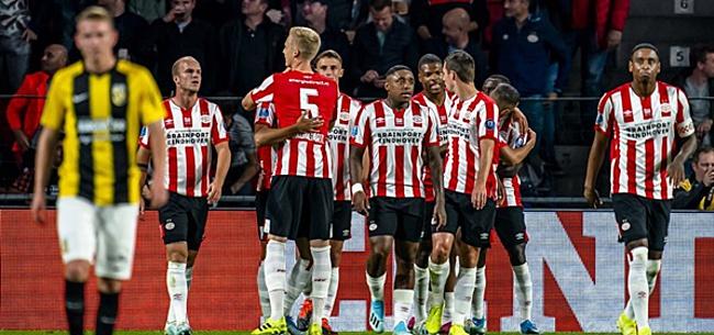 Foto: Verbazing bij kijkers PSV-Vitesse: