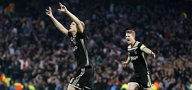 Foto: Ajax-fans én Van de Beek laten zich horen op Instagram Bergwijn