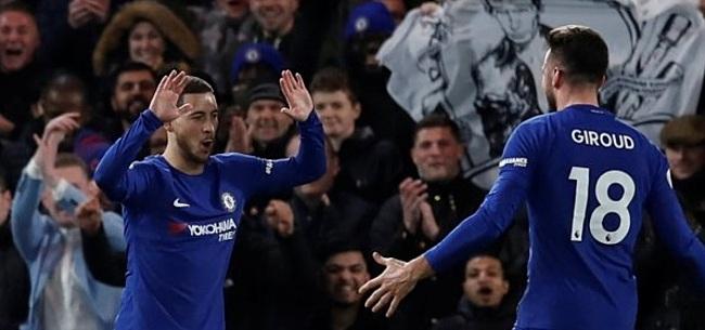 Foto: Hazard blinkt uit en schiet Chelsea naar plek vier