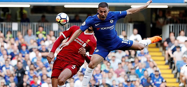 Foto: Hazard: 'Ik probeerde tegen Van Dijk op te springen, maar had geen kans'