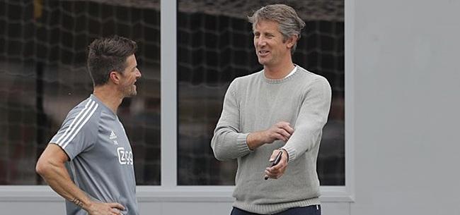Foto: Van der Sar alert met Ajax: