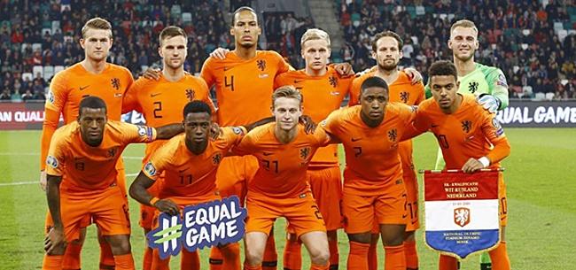Foto: 'Oranje met opvallende opstelling tegen Noord-Ieren'