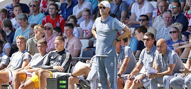 Foto: Ten Hag bijzonder kritisch op Ajax: 'Heel slecht'