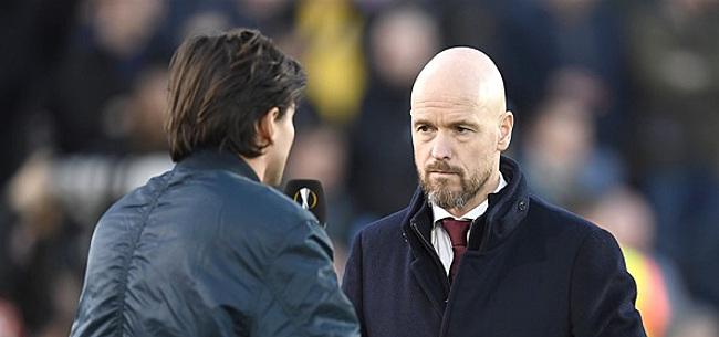 Foto: Ten Hag ziet Ajax falen: