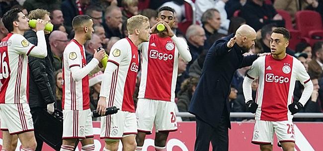 Foto: Opstelling Ajax tegen Spakenburg: behoorlijke 'fantasie-opstelling'