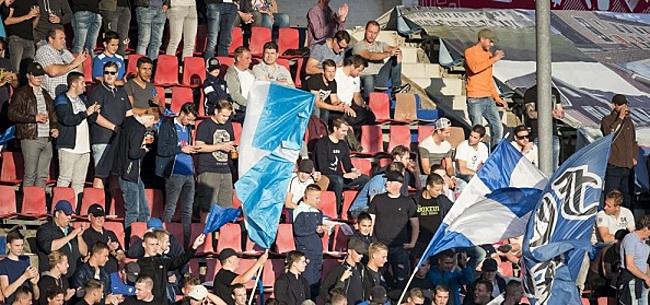 Foto: Bizar: Den Bosch-fans gooien vuurwerk richting ballenjongen
