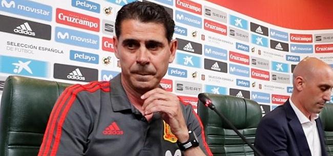 Foto: Ontslagen Lopetegui en opvolger Hierro reageren kort op Spaanse soap
