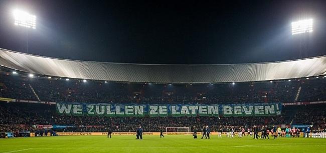 Foto: Feyenoord komt met officiële reactie op 'smakeloos' spandoek