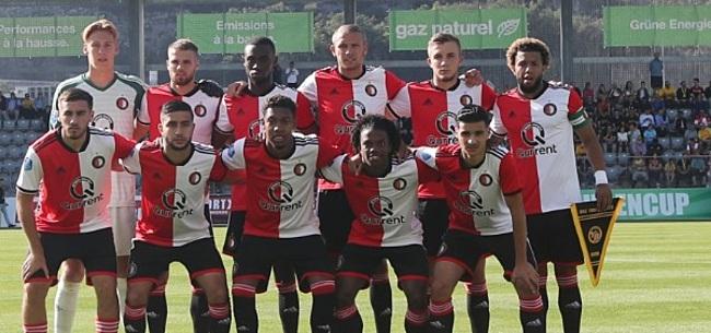Foto: Jeugdig Feyenoord gaat snoeihard onderuit in oefenduel