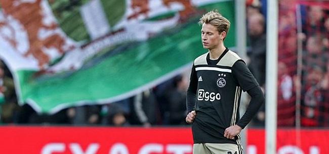 Foto: 'Ajax-spelers hebben moeite met transfer Frenkie de Jong'
