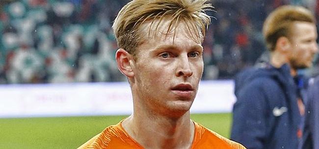 Foto: De Jong hoort over kritiek Koeman: