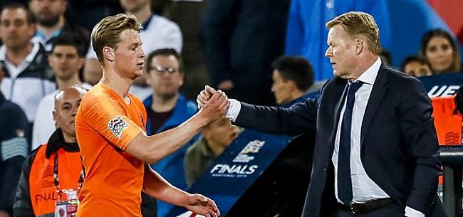 Foto: Koeman haalt Frenkie de Jong aan als voorbeeld: 'Word je een grote kerel van'