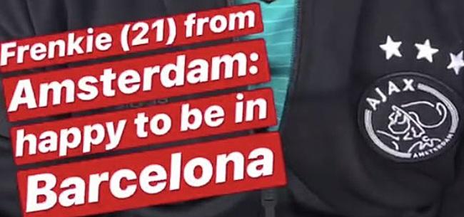 Foto: Instagram-post FC Barcelona zet Amsterdam op stelten: 'Frenkie in Barcelona'