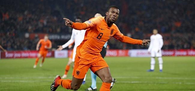 Foto: Wijnaldum waarschuwt Oranje-teammaten: 'We mogen niet tevreden zijn'