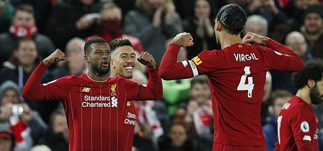 Foto: Liverpool mede dankzij scorende Wijnaldum weer 22 punten los
