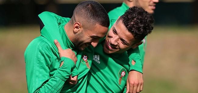 Foto: Marokko met twee Ajacieden en AZ'er naar Afrika Cup