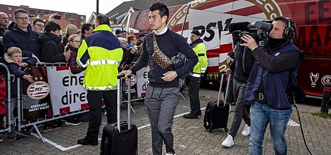 Foto: 'Lozano tegen Wolfsburg mogelijk weer in PSV-shirt'