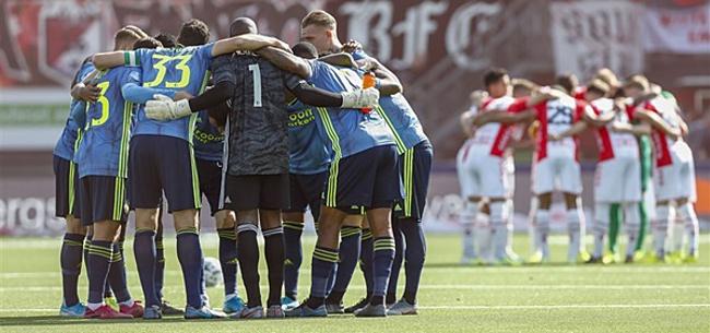 Foto: Feyenoord-speler met grond gelijk gemaakt:
