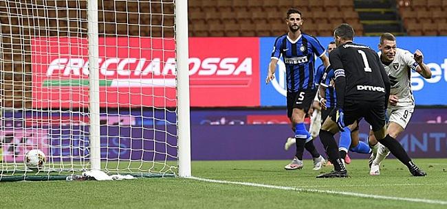 Foto: Inter grijpt tweede plek ondanks bizarre keepersblunder